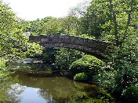 Beggars Bridge in the village of Glaisdale