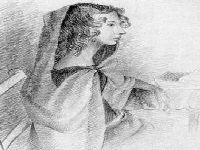 Anne Bronte as sketched by her sister Charlotte Bronte